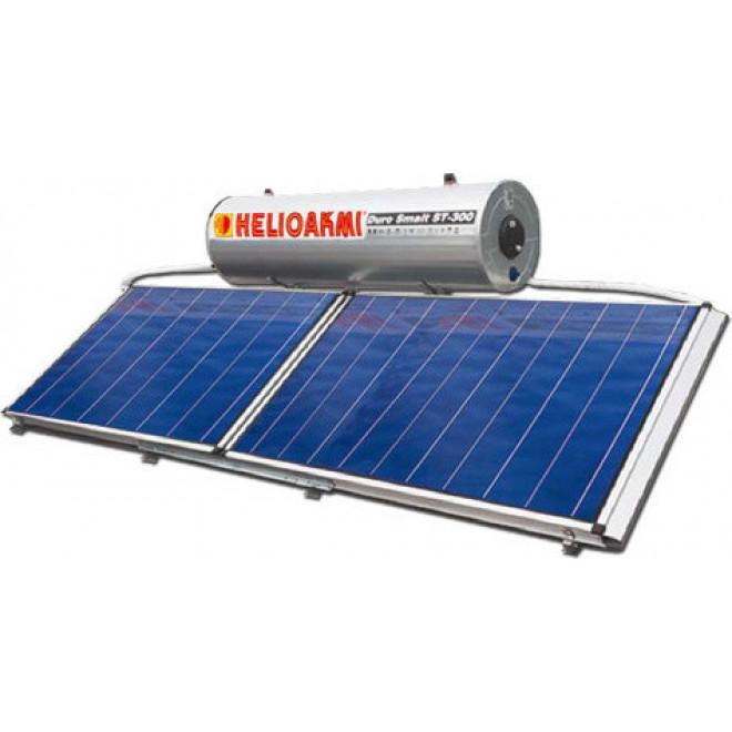 Helioakmi Megasun HOR 300lt/5.24m² Glass Διπλής Ενέργειας