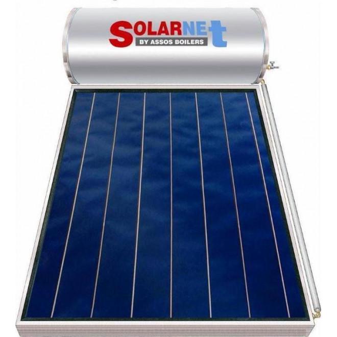 Assos Solarnet 200lt/2.5m² Glass Διπλής Ενέργειας