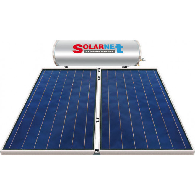 Assos Solarnet E200lt/4m² Glass Διπλής Ενέργειας