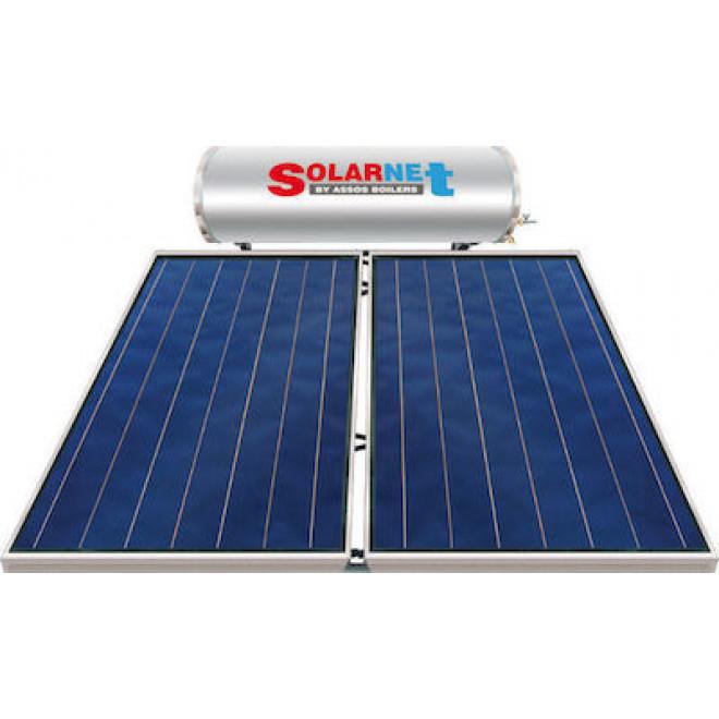 Assos Solarnet 300lt/4m² Glass Τριπλής Ενέργειας